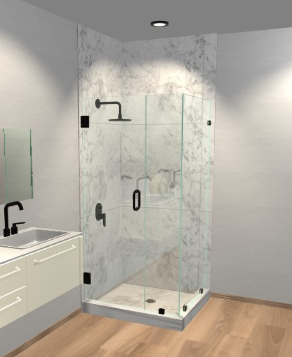 Attirant Corner Shower Doors