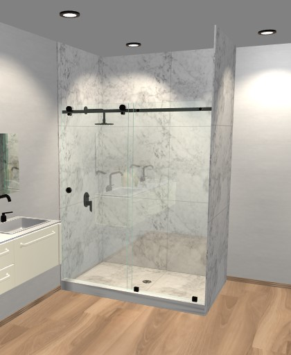 Quadro Sliding Shower Doors