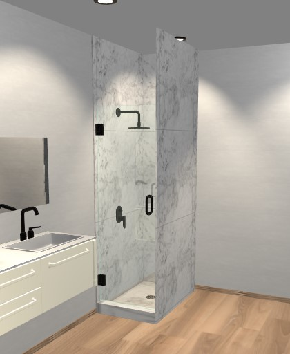 Single Glass Shower Doors