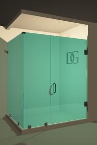 Left Open Corner Shower Door