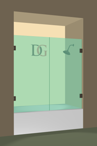 Double Swinging Bathtub Door