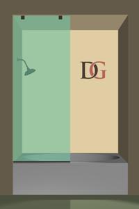 Fixed Left Side Full-Height Single Bathtub Screen