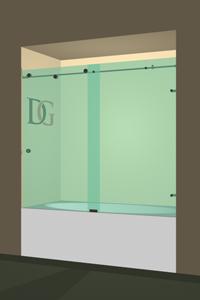 Left Open Metro Sliding Bathtub Door