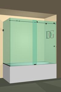 Right Open Metro Sliding Corner Bathtub Door
