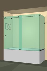 Left Open Metro Sliding Corner Bathtub Door