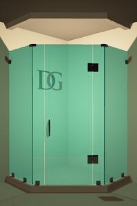 Left Open Neo Angle Shower Door
