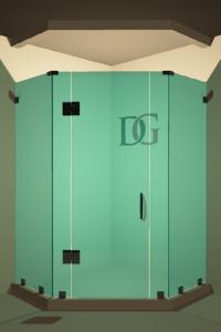 Right Open Neo Angle Shower Door