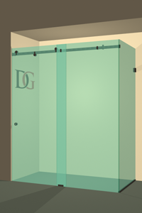 Left Open Quadro Sliding Corner Shower Door