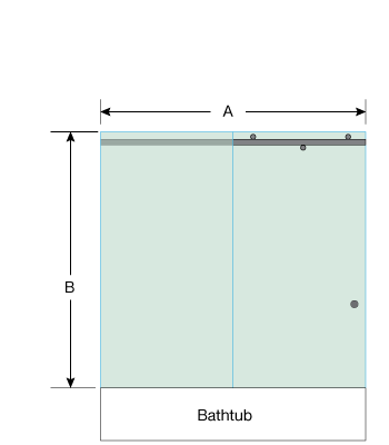 Left Open Quadro Sliding Bathtub Door