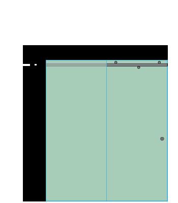 Left Open Quadro Sliding Shower Door