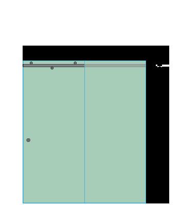 Right Open Quadro Sliding Shower Door