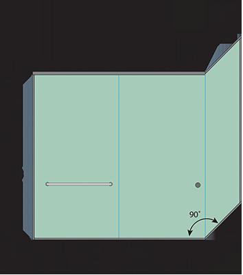 Linear Corner Bypass Sliding Bathtub Door