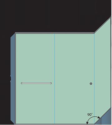 Linear Corner Sliding Shower Door