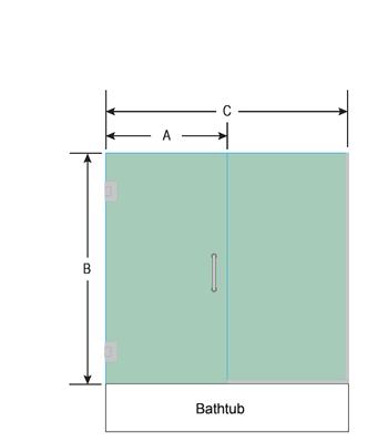 Right Open Single Swinging Bathtub Door