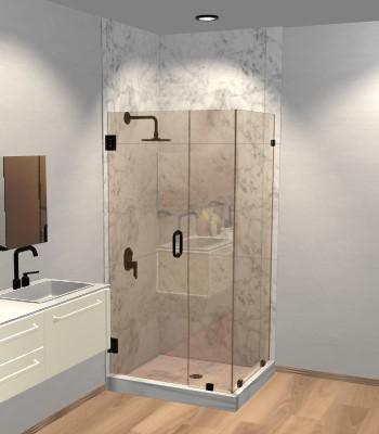 Right Open Corner Shower Door