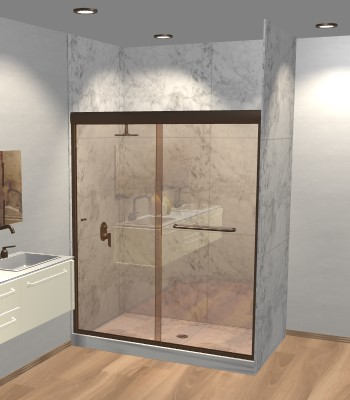 Linear Bypass Sliding Shower Door