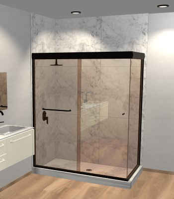 Linear Corner Sliding Shower Door