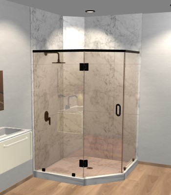Right Open Neo Angle Shower Door