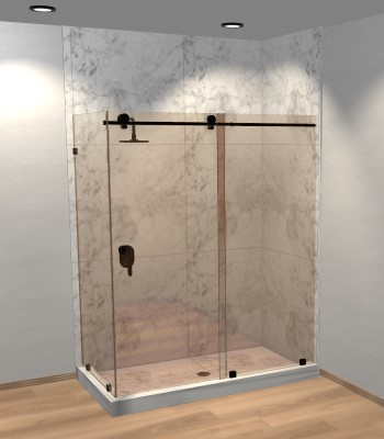Right Open Metro Sliding Corner Shower Door