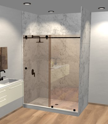 Right Open Metro Sliding Shower Door