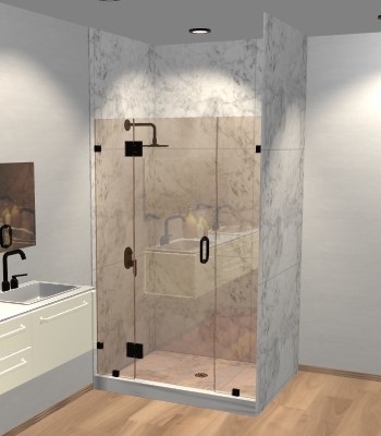 Right Open Door & Panel Shower Door