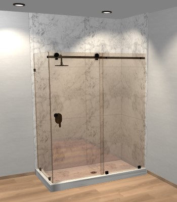 Right Open Quadro Sliding Corner Shower Door