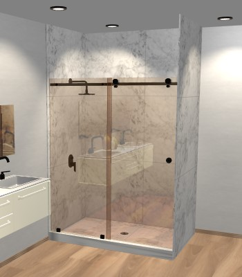 Left Open Quadro Sliding Shower Door