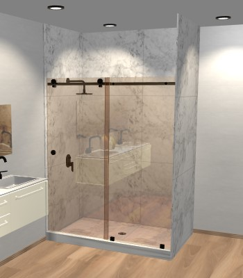 Right Open Quadro Sliding Shower Door