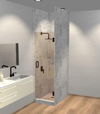 Left Open Single Shower Door