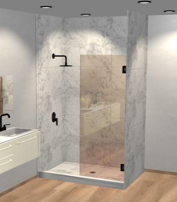 Left Open Single Swinging Shower Screen