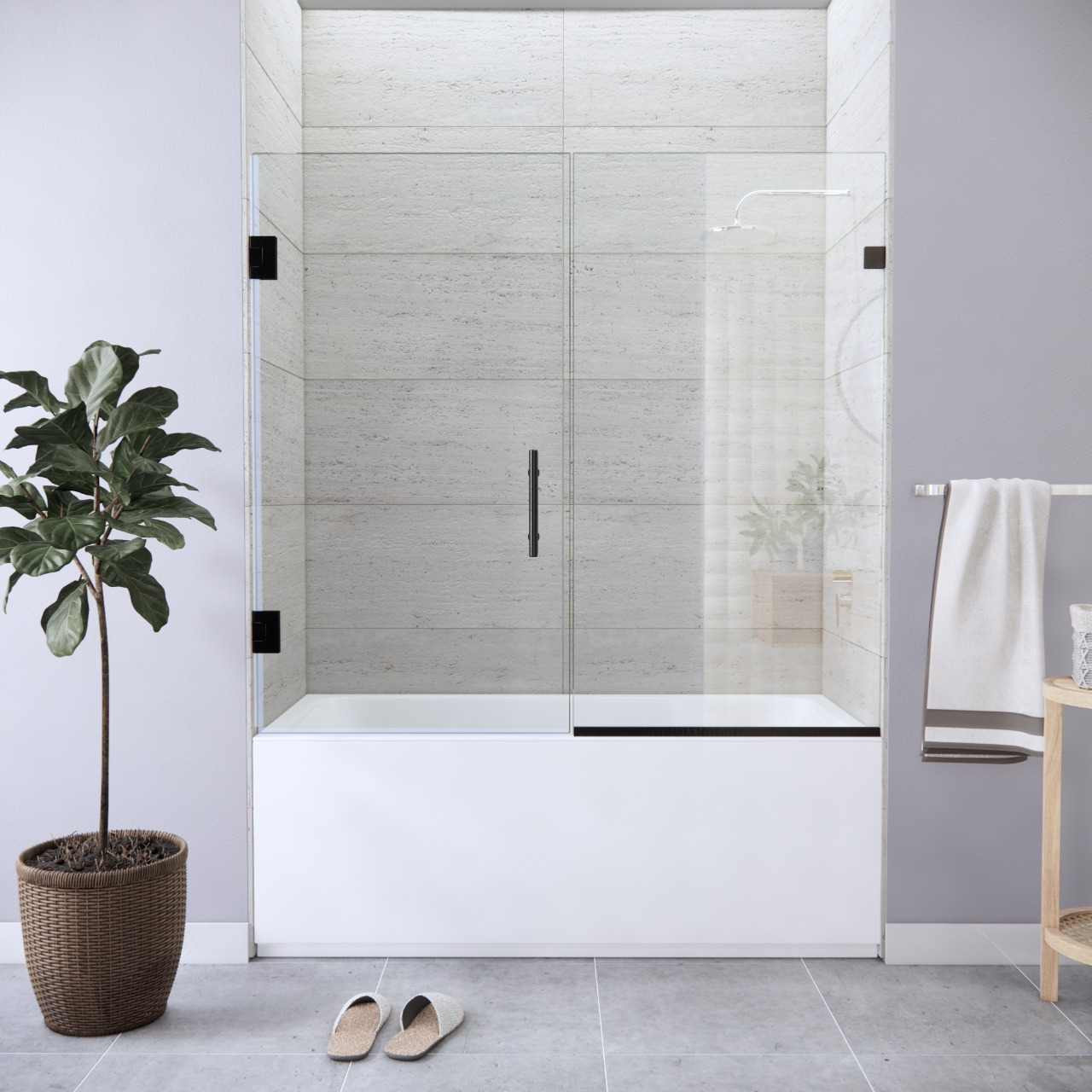 Right Open Single Swinging Bathtub Door