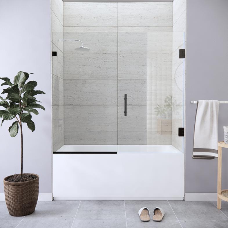 Left Open Single Swinging Bathtub Door