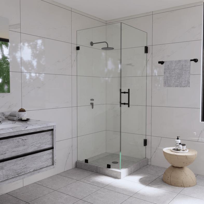 Left Open Corner Shower Panel and Door