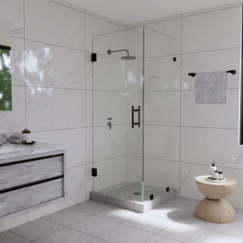 Right Open Corner Shower Panel and Door