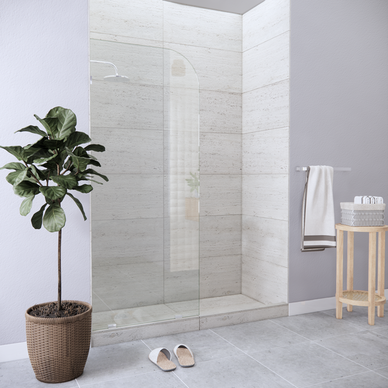 Right Open Single Shower Round Screen