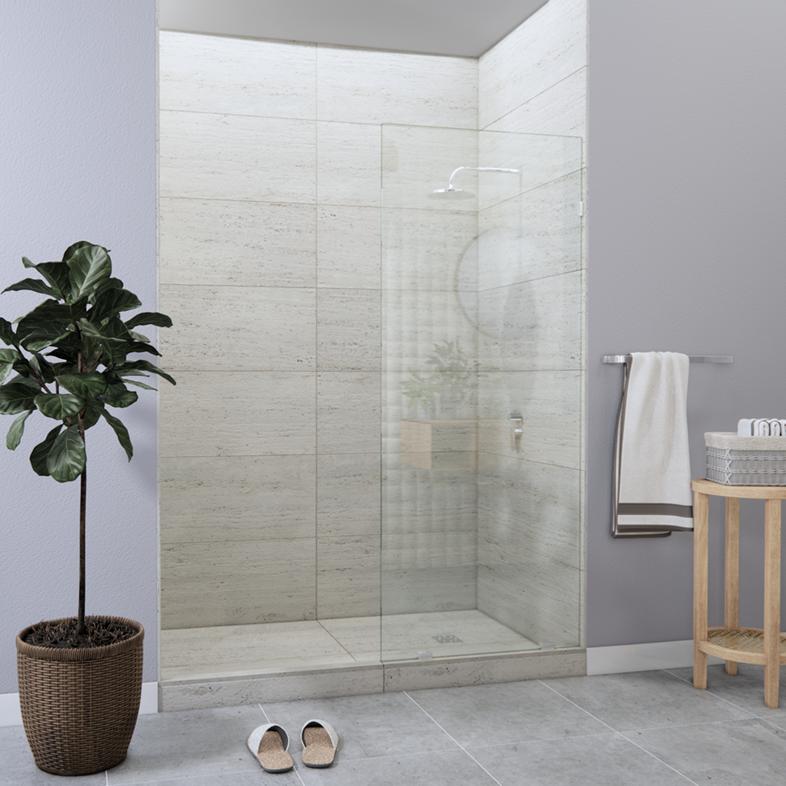 Left Open Single Shower Screen
