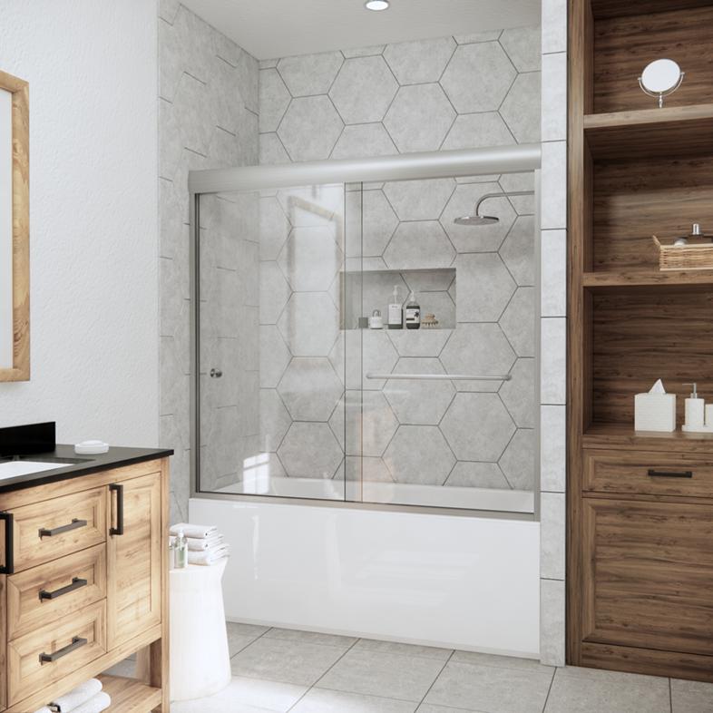Linear Bypass Sliding Bathtub Door