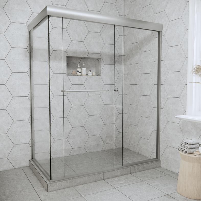 Linear Bypass Corner Sliding Shower Door