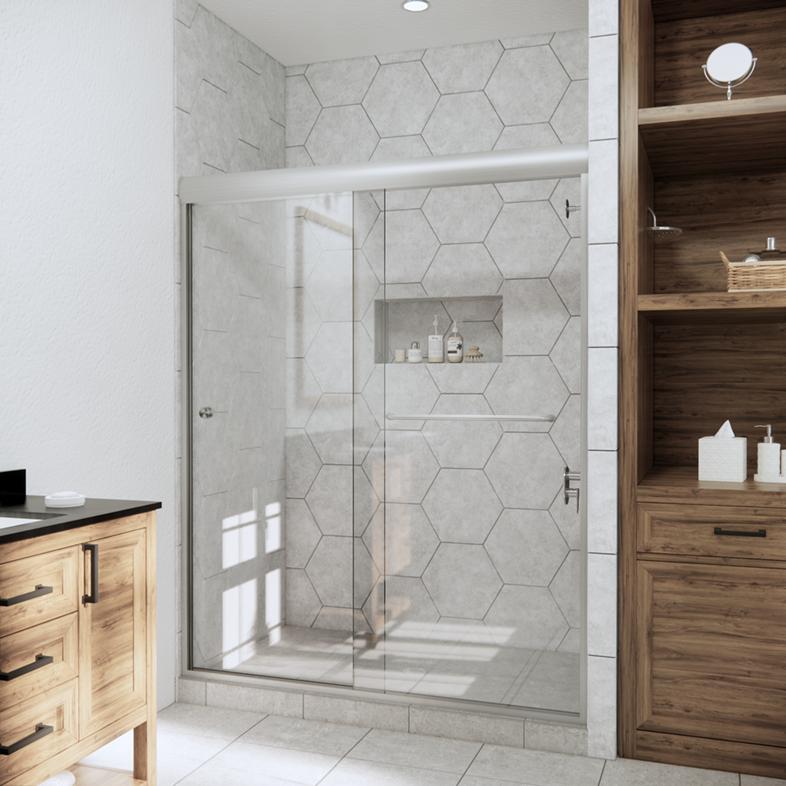 Linear Bypass Sliding Shower Door