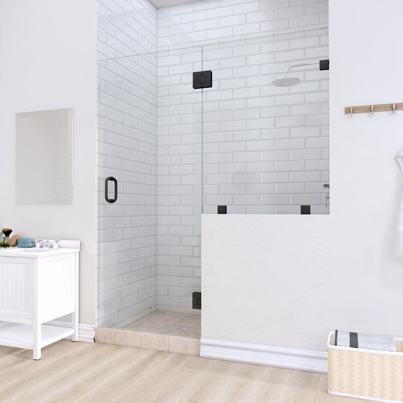 Right Open Door & Panel Shower Door with right knee Wall