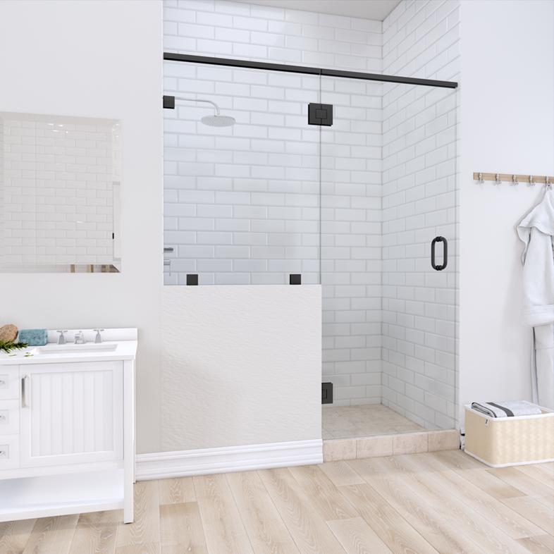 Right Open Door & Panel Shower Door with left knee Wall
