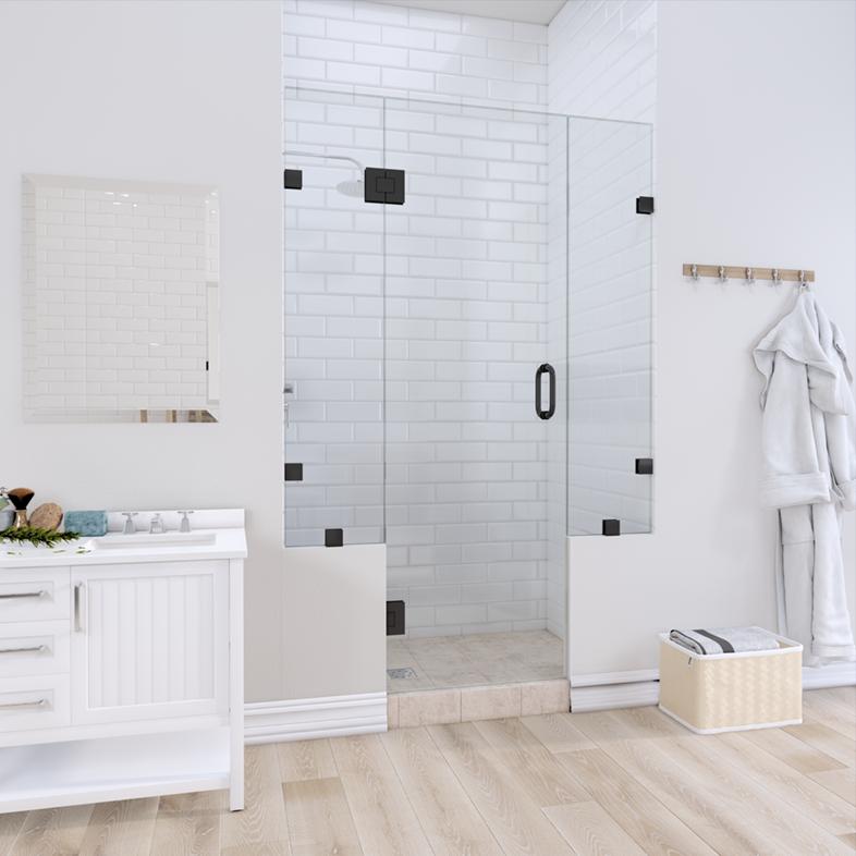 Right Open Door & Panel Shower Door with Two Knee Walls