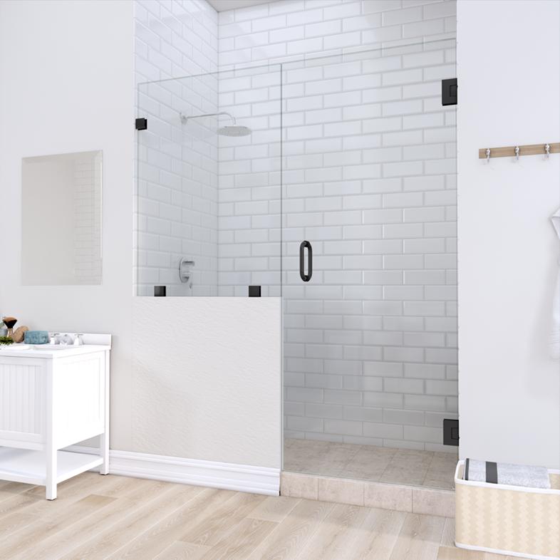 Left Open Door & Panel Shower Door with left knee Wall
