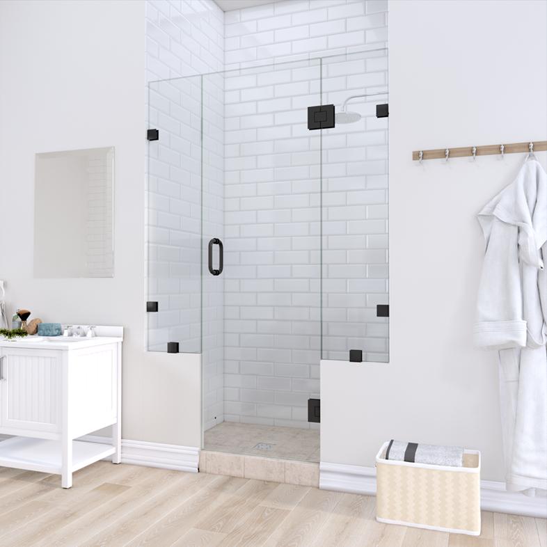 Left Open Door & Panel Shower Door with Two Knee Walls