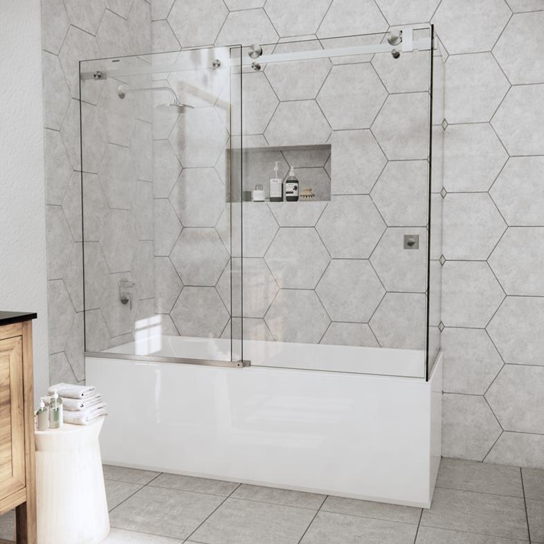 Left Open Quadro Sliding Corner Bathtub Door