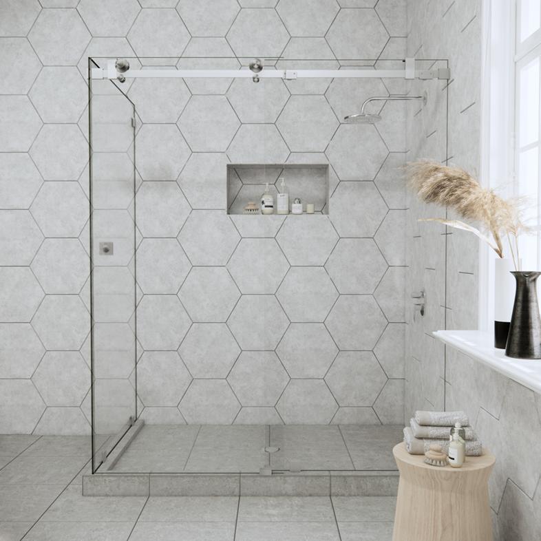 Right Open Quadro Sliding Corner Shower Door