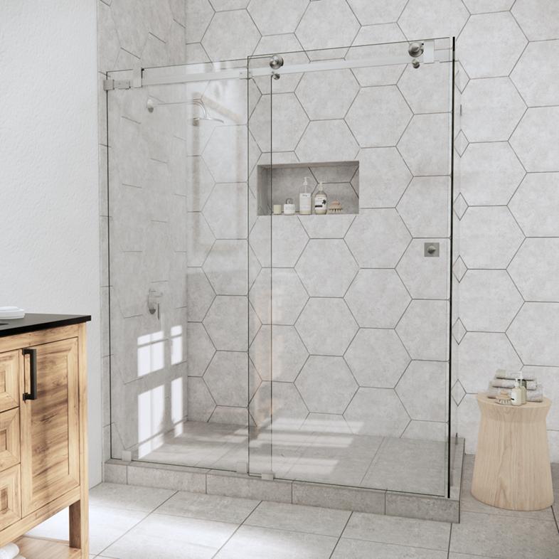 Left Open Quadro Sliding Corner Shower Door