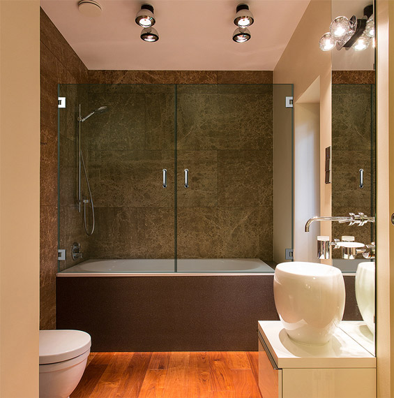 Double Dual Swinging Bathtub Doors | Dulles Glass