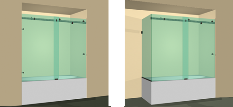Quadro Sliding Bathtub Doors Dulles Glass