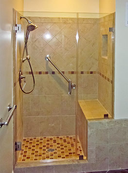 Bathroom Knee Wall shower construction guide | dulles glass